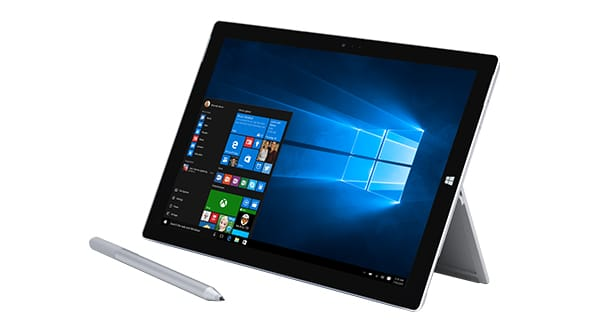 The Microsoft Surface 3, which the school plans to distribute to students next semester.