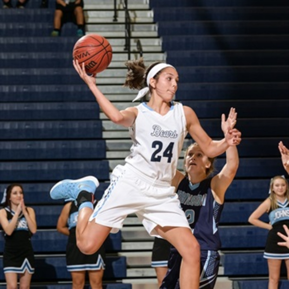 Sierra Sieracki playing basketball this past season.