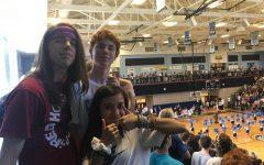 Juniors Will Dicarlo, Marcela Ramirez and Matthew Young