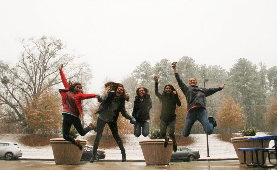 A+few+students+make+the+best+of+the+situation+and+decide+to+have+some+fun+in+the+snow.+