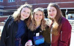 Sophomores Jaqui Stoios, Emily Terry, and Libby Povlot