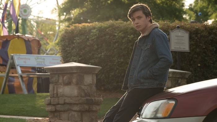 Simon+Spier%2C+%28Nick+Robinson%29%2C+reflecting+on+his+life+choices+behind+a+Ferris+Wheel%2C+which+plays+an+important+part+in+the+film.+