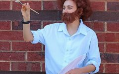 Junior Grace Harris as Painter Bob Ross