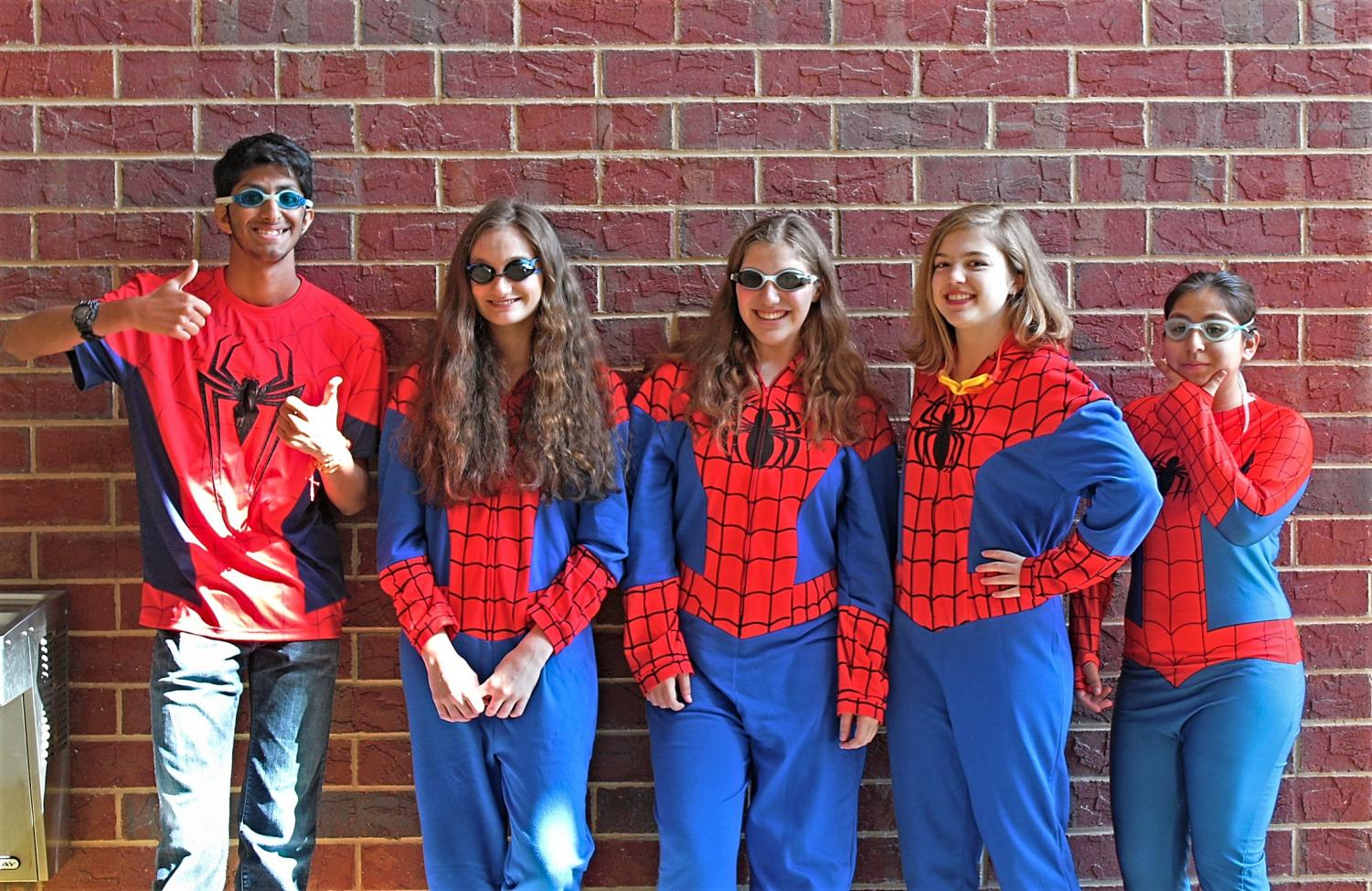 Senior Aditya Sayal, senior Dakota Pasley, junior Caroline Fettes, junior Isabella Amorine and junior Julissa Duarte are centrality doing it for the Vine, as they are dressed up as the