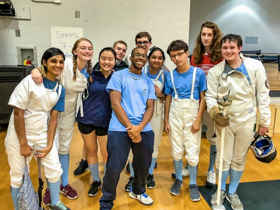 Members+of+the+Cambridge+fencing+team+at+the+Dunwoody+High+School+tournament.