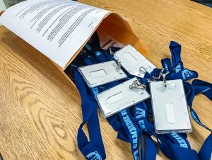 The new student IDs with lanyards are part of the school's safety and security plan. Students are expected to wear their ID at all times.