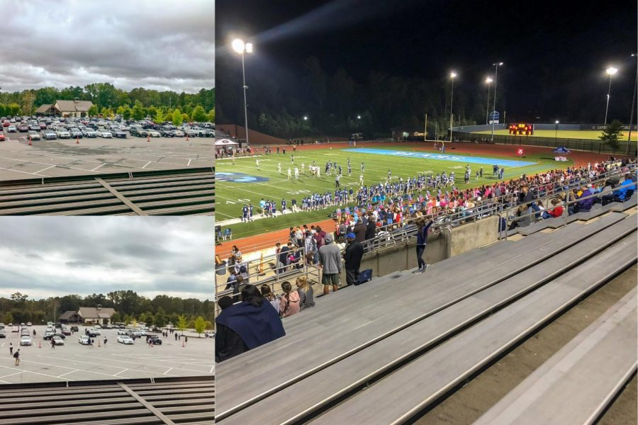 The+lack+of+school+spirit+is+evident+through+our+football+games+and+the+parking+lot+at+different+times+of+the+day.