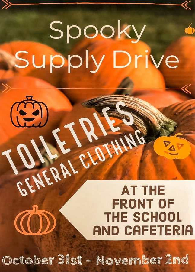 The+%22Spooky+Supply+Drive%22+runs+until+Nov+2+and+is+mainly+asking+for+donations+consisting+of+toiletries+and+clothing.+