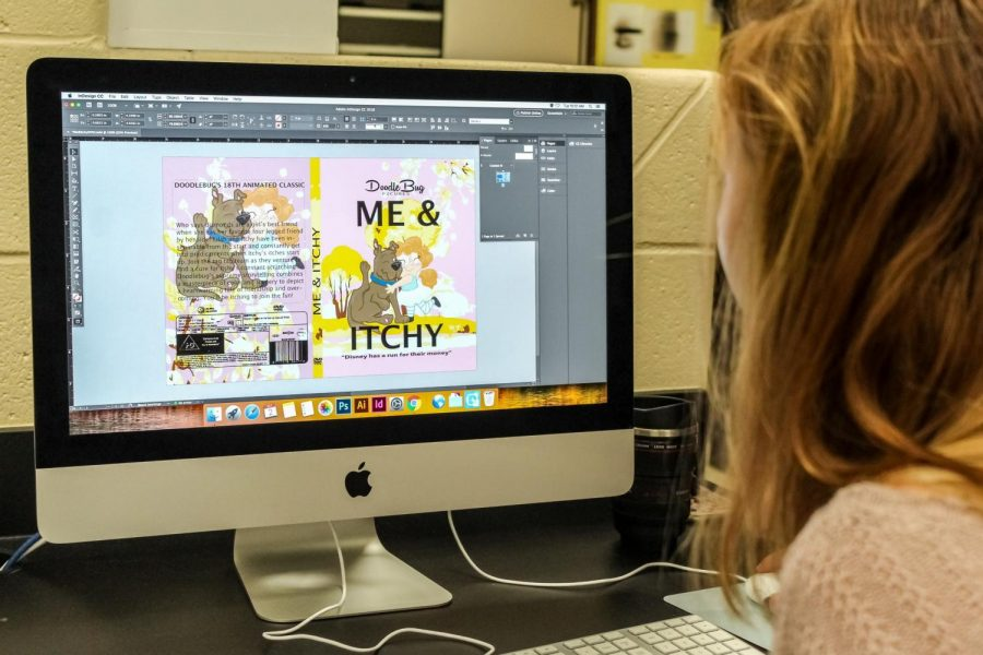 A project that is being worked on by one of Batterman's graphic design students.