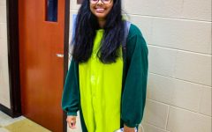 Senior Nikita Savant as a Dinosaur
