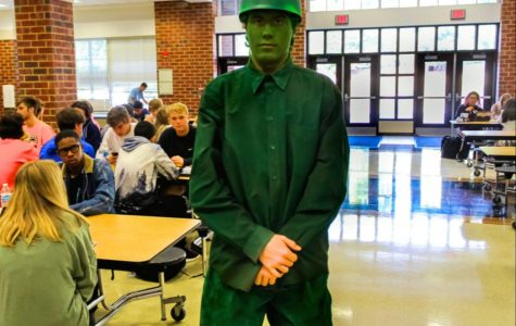 "Junior Nate Korowin as One of the ""Toy Story"" Green Army Men"