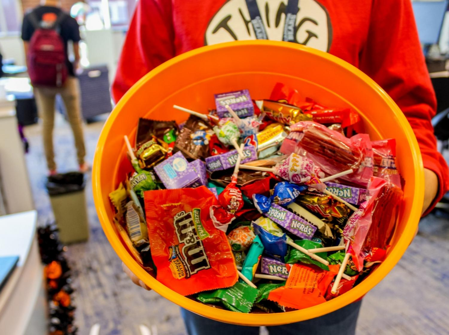 Bowls of candy will await trick or treaters as they knock on doors and fill  their bags with a variety of sweets.