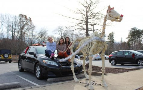 Student Council Revs Up Holiday Spirit with Car Decorating Contest