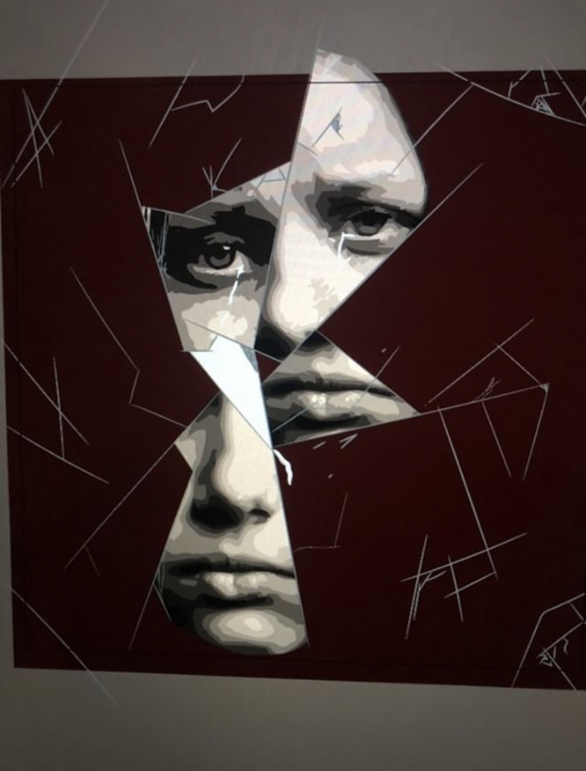 A graphic design done by sophomore Isabel Conrath, in an artistic depiction of depression.