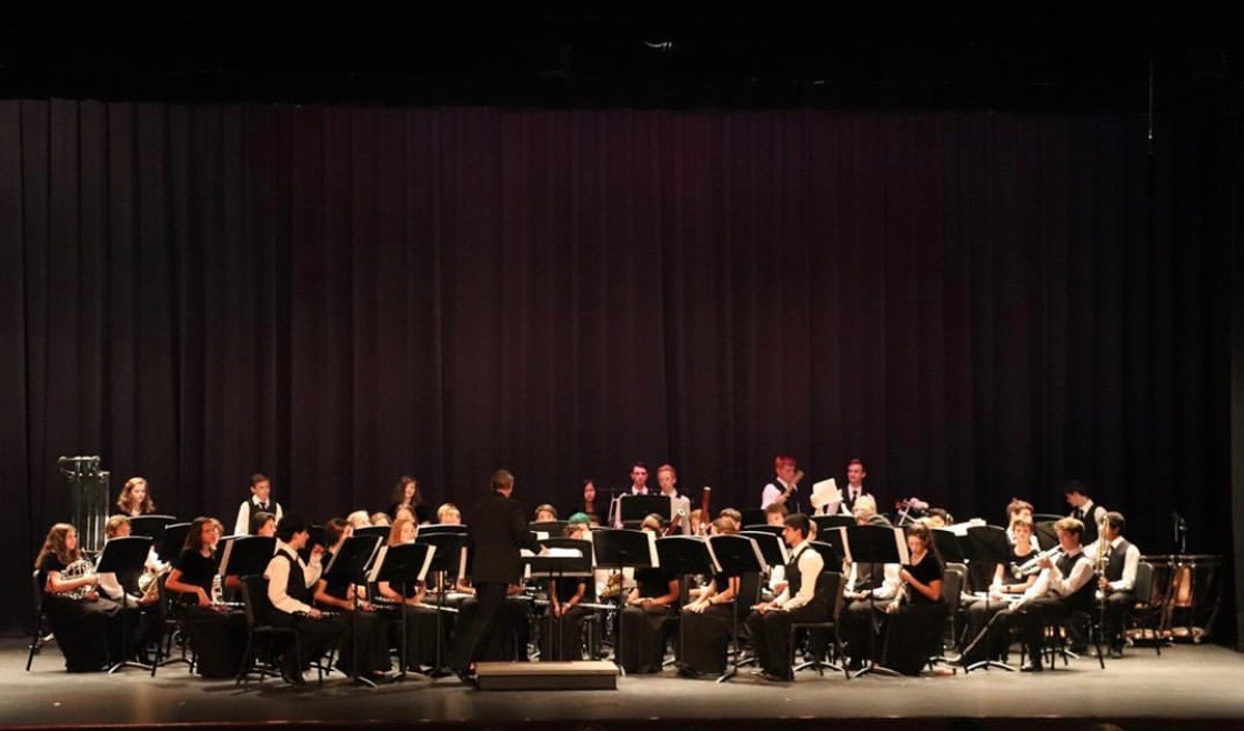 The band ensemble performing.