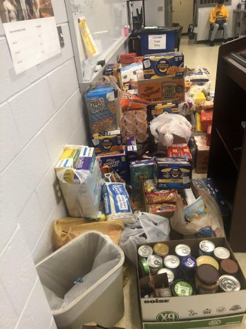 Students donated hundreds of pounds of food to SkillsUSA