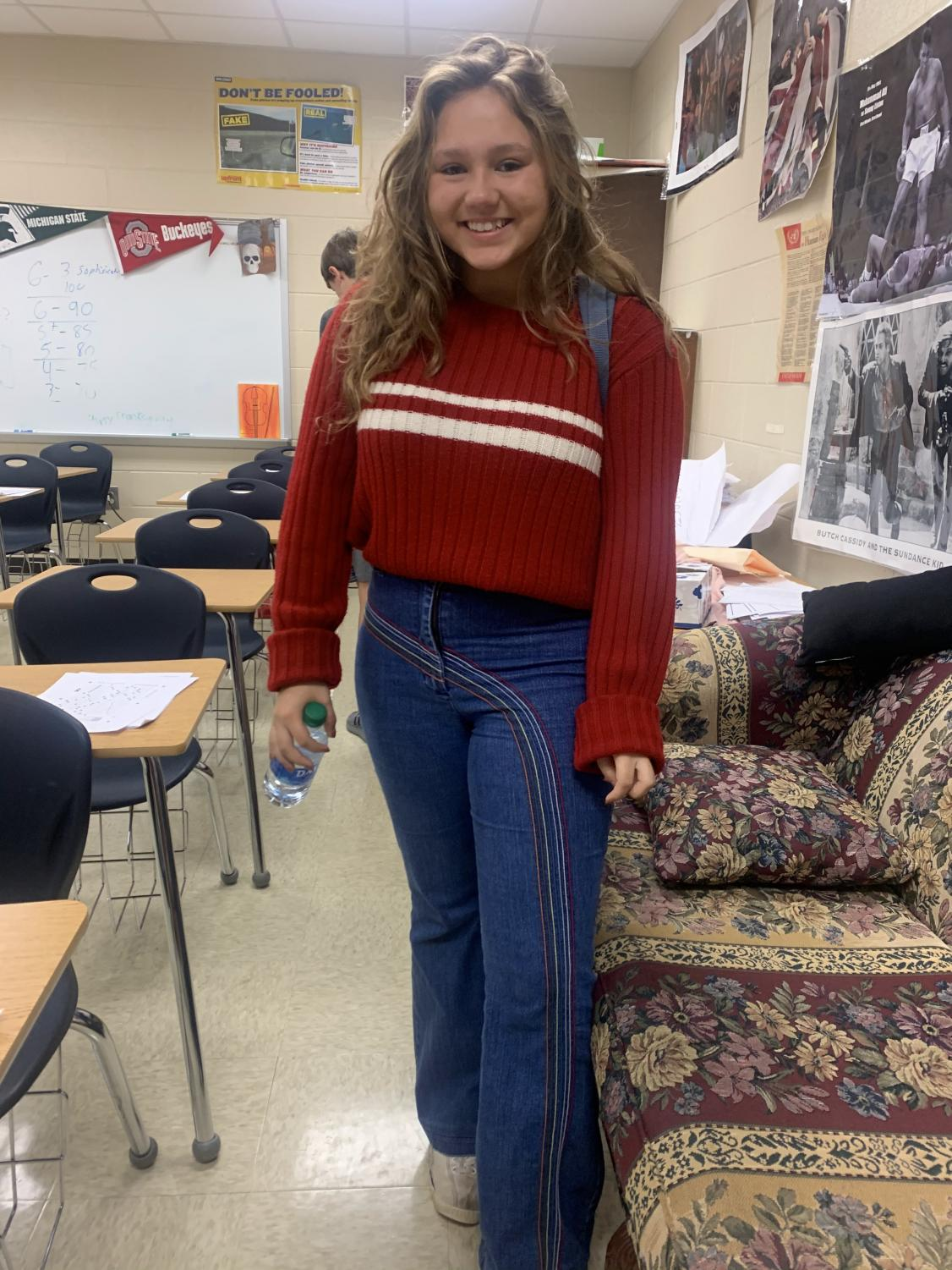 Junior Jessie Smith says her style is inspired by old and vintage TV shows.