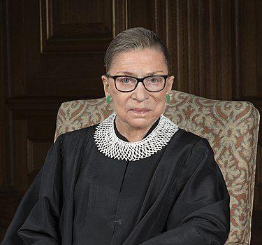 Ruth Bader Ginsburg in her court attire.
