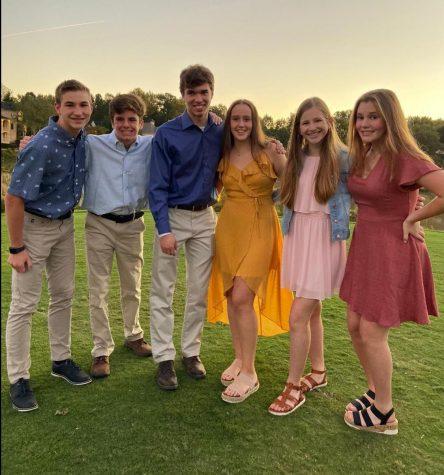 From left to right: freshman David Lichtenwalner, freshman John Watkins, freshman Connor Scott, freshman Gabriela Pieterse, freshman Kendyll Sicchitano, freshman Audrey Van Vuuren.