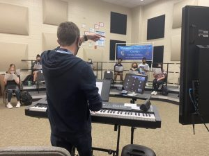 Van Dyke teaches a winter piece to his online and in-person students.