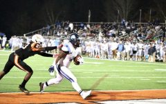 Collins scores against Kell High School in the first round of the playoffs.